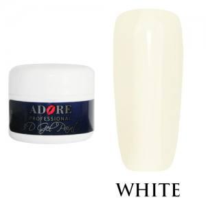 Гель-паста Adore 3D №01 белая, 5 мл