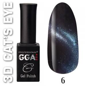 Гель-лак 3D cat eye GGA 10мл №6