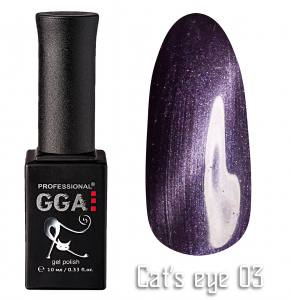 Гель лак GGA Professional 10 мл кошачий глаз №3