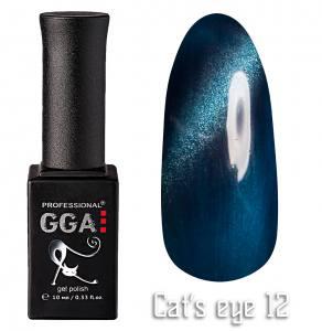 Гель лак GGA Professional 10 мл кошачий глаз №12