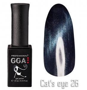 Гель лак GGA Professional 10 мл кошачий глаз №26
