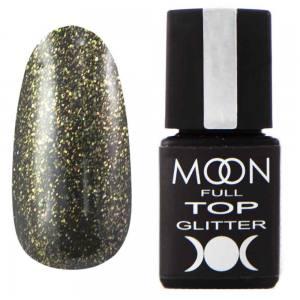 Top Glitter MOON FULL №2 Gold (прозрачный с золотистым микроблеском), 8 мл