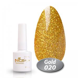 Гель-лак Nice Cool Gold 8.5g 020