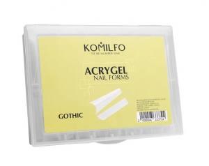 Верхние формы для наращивания Komilfo Top Nail Forms Gothi готический миндаль 120 шт