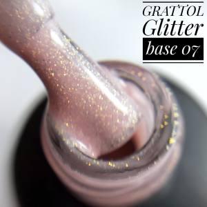 База камуфляж с глиттером Grattol Glitter Rubber Base 9мл №7