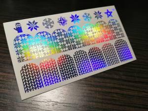 Слайдер для ногтей фольгированный 127 серебро спектр