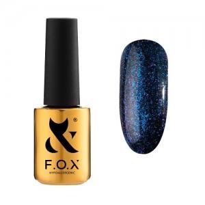 Гель-лак F.O.X Hangover №004 (синий с фиолетовыми блестками), 7 мл