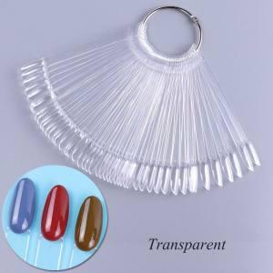 Палитра веер прозрачная (миндаль) 50 шт