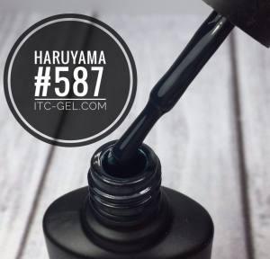 Гель-лак Haruyama Классика №587, черно-бирюзовый,  8 мл
