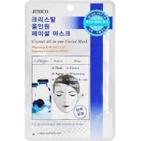 Тканевая маска с коллагеном Mijin Junico Crystal All-in-one Facial Collagen mask  25 мл
