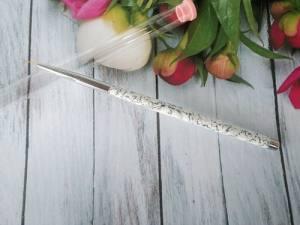 Кисть YRE волосок мраморная ручка KR-05 9мм