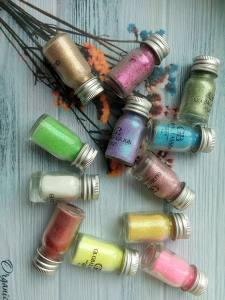 Набор сухого песка в баночках Global 12цветов по 6г