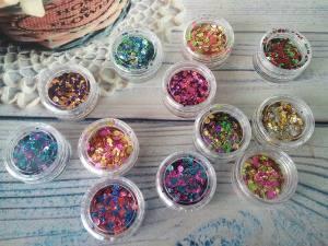Набор фольгированных конфетти для ногтей Starlet 12шт