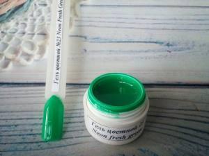 Гель цветной №23 5г Neon Fresh Green