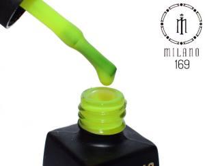Гель лак MILANO 8мл 169 неоновый лимонно-желтый
