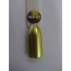 Гель-лак металлик Nice MS-01 №1 золото