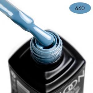 Гель-лак MOON FULL color Gel polish №660 голубовато-серый