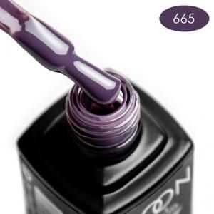 Гель-лак MOON FULL color Gel polish №665 дымчатый сливовый