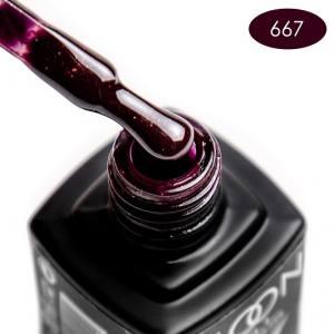 Гель-лак MOON FULL color Gel polish №667 шоколадно-сливовый