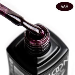 Гель-лак MOON FULL color Gel polish №668 шоколадно-сливовый с шиммером