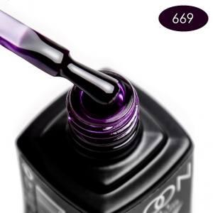 Гель-лак MOON FULL color Gel polish №669 темный баклажан