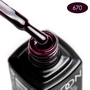 Гель-лак MOON FULL color Gel polish №670 шоколадно-черничный