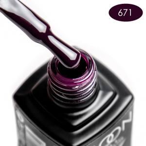 Гель-лак MOON FULL color Gel polish №671 черничный