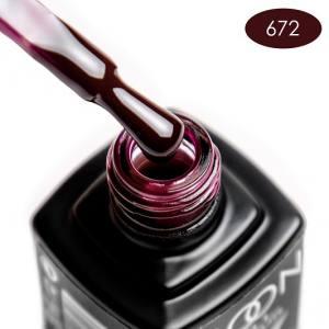 Гель-лак MOON FULL color Gel polish №672 шоколадно-вишневый
