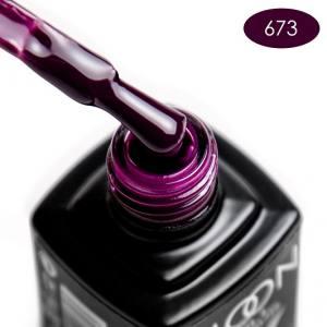 Гель-лак MOON FULL color Gel polish №673 брусничный темный