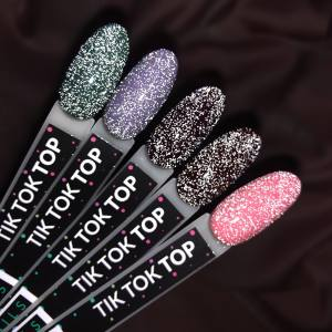 Cветоотражающий топ без липкого слоя Kira Nails Tik Tok No Wipe Top Coat 6 мл