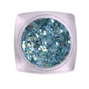 Komilfo блесточки MIX chameleon 006, микс размеров (голубой), 1,5 г