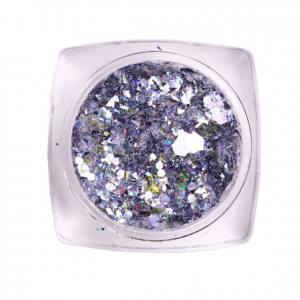 Komilfo блесточки MIX chameleon 003, микс размеров (фиолетовый/серебряный), 1,5 г