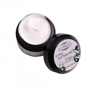 Гель-краска БЕЗ липкого слоя Komilfo No Wipe Gel Paint White 002 (белая), 5 мл