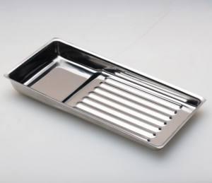 Лоток из нержавеющей стали для инструмента, 195х90 мм