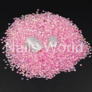 Стразы пластик 2мм Jelly  Pink  AB 100шт
