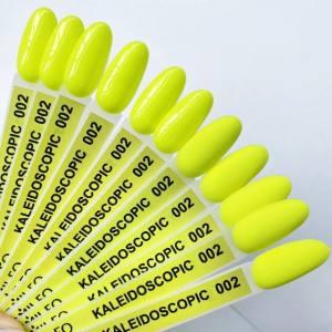 Гель-лак Komilfo Kaleidoscopic Collection K002 (салатово-желтый, неоновый), 8 мл