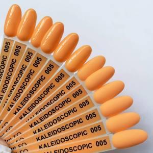 Гель-лак Komilfo Kaleidoscopic Collection K005 (персиковый, неоновый), 8 мл
