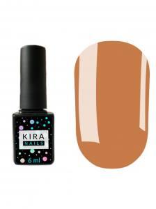 Гель-лак Kira Nails №071 (бежево-коричневый с золотым микроблеском), 6 мл
