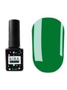 Гель-лак Kira Nails №078 (зеленый, эмаль), 6 мл