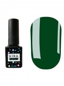 Гель-лак Kira Nails №079 (насыщенный зеленый, эмаль), 6 мл
