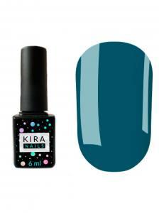 Гель-лак Kira Nails №080 (темно-лазурный, эмаль), 6 мл