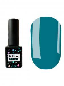 Гель-лак Kira Nails №081 (лазурный, эмаль), 6 мл