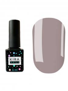 Гель-лак Kira Nails №085 (лилово-серый, эмаль), 6 мл