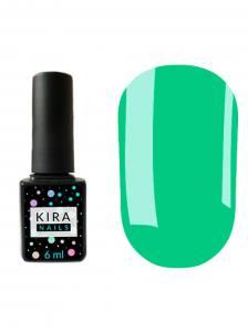 Гель-лак Kira Nails №086 (зеленовато-бирюзовый, эмаль), 6 мл