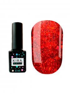 Гель-лак Kira Nails №095 (насыщенный красный с микроблеском), 6 мл