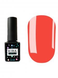 Гель-лак Kira Nails №098 (коралловый, неоновый, эмаль), 6 мл