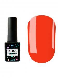 Гель-лак Kira №107 (морковный, эмаль, неоновый), 6 мл