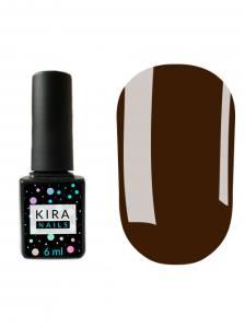 Гель-лак Kira Nails №121 (темно-шоколадный, эмаль), 6 мл