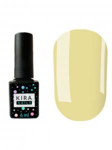 Гель-лак Kira Nails №122 (бледный серо-салатовый, эмаль), 6 мл