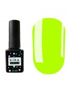 Гель-лак Kira Nails №123 (светло-салатовый, эмаль, неоновый), 6 мл